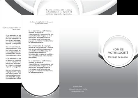 impression depliant 3 volets  6 pages  web design gris fond gris rond MLIG78975