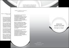 impression depliant 3 volets  6 pages  web design gris fond gris rond MIS78975
