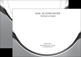 personnaliser modele de flyers web design gris fond gris rond MIS78977