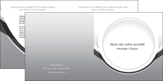 imprimerie depliant 2 volets  4 pages  web design gris fond gris rond MLIG78979