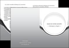 exemple depliant 2 volets  4 pages  web design gris fond gris rond MLIG78989