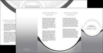maquette en ligne a personnaliser depliant 4 volets  8 pages  web design gris fond gris rond MIS78997