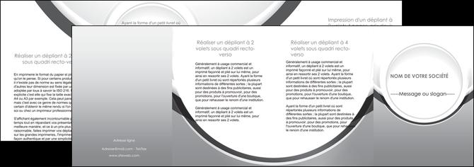 imprimer depliant 4 volets  8 pages  web design gris fond gris rond MLIG78999