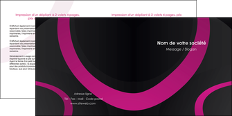 modele en ligne depliant 2 volets  4 pages  web design noir fond noir violet MIF79011