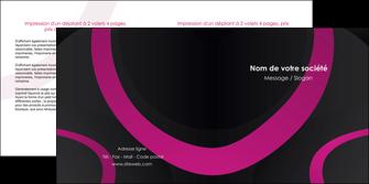 modele en ligne depliant 2 volets  4 pages  web design noir fond noir violet MLIG79011