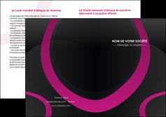 faire modele a imprimer depliant 2 volets  4 pages  web design noir fond noir violet MIF79021