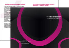 faire modele a imprimer depliant 2 volets  4 pages  web design noir fond noir violet MLIG79021