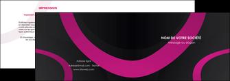 faire modele a imprimer depliant 2 volets  4 pages  web design noir fond noir violet MIF79027