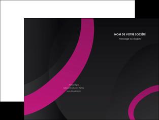 imprimer pochette a rabat web design noir fond noir violet MIF79029