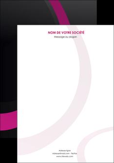 creer modele en ligne affiche web design noir fond noir violet MIF79037