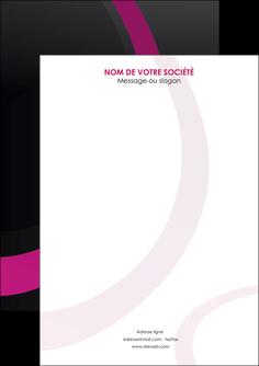 personnaliser maquette flyers web design noir fond noir violet MIF79041