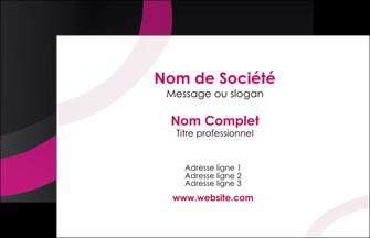 faire carte de visite web design noir fond noir violet MIF79043