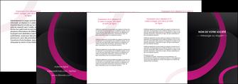 exemple depliant 4 volets  8 pages  web design noir fond noir violet MIF79045