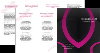 exemple depliant 4 volets  8 pages  web design noir fond noir violet MIF79049