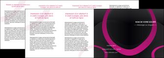cree depliant 4 volets  8 pages  web design noir fond noir violet MIF79051