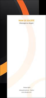 personnaliser modele de flyers web design noir orange texture MLGI79105