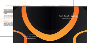 creer modele en ligne depliant 2 volets  4 pages  web design noir orange texture MIF79115