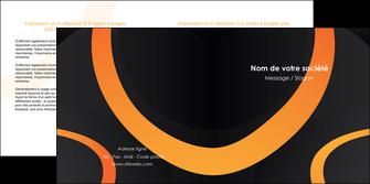 creer modele en ligne depliant 2 volets  4 pages  web design noir orange texture MLGI79115