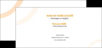 realiser carte de correspondance web design noir orange texture MIF79123