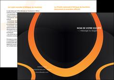 cree depliant 2 volets  4 pages  web design noir orange texture MIF79125