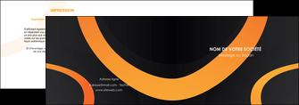 personnaliser modele de depliant 2 volets  4 pages  web design noir orange texture MLGI79131