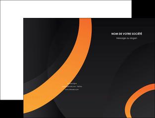 modele en ligne pochette a rabat web design noir orange texture MIF79133