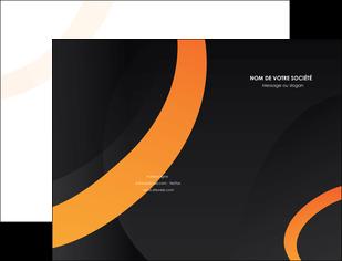 exemple pochette a rabat web design noir orange texture MLGI79135