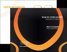 personnaliser maquette carte de visite web design noir orange texture MIF79137
