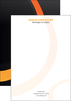 creer modele en ligne flyers web design noir orange texture MIF79145