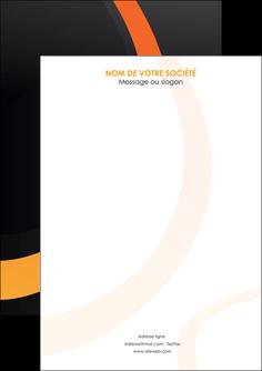 creer modele en ligne flyers web design noir orange texture MLGI79145