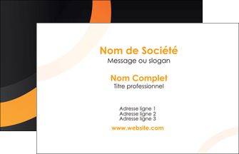 modele carte de visite web design noir orange texture MIF79147