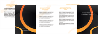 personnaliser modele de depliant 4 volets  8 pages  web design noir orange texture MIF79149