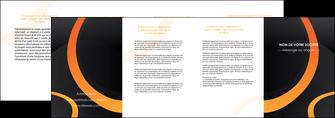 personnaliser modele de depliant 4 volets  8 pages  web design noir orange texture MLGI79149