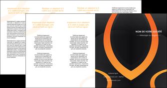 modele depliant 4 volets  8 pages  web design noir orange texture MIF79153