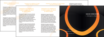 creer modele en ligne depliant 4 volets  8 pages  web design noir orange texture MIF79155