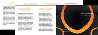 creer modele en ligne depliant 4 volets  8 pages  web design noir orange texture MLGI79155