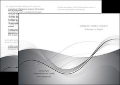 modele depliant 2 volets  4 pages  web design gris fond gris texture MIF79437