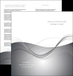 impression depliant 2 volets  4 pages  web design gris fond gris texture MIF79459