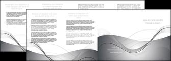 creation graphique en ligne depliant 4 volets  8 pages  web design gris fond gris texture MIF79473