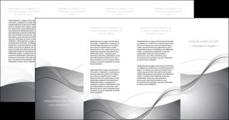 modele depliant 4 volets  8 pages  web design gris fond gris texture MIF79477