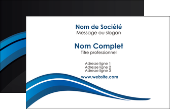 realiser carte de visite web design bleu couleurs froides gris MIF79545