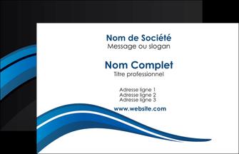 realiser carte de visite web design bleu couleurs froides gris MLGI79545