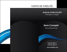 Impression pancarte extérieure pas chere Web Design Carte commerciale de fidélité devis d'imprimeur publicitaire professionnel Carte de visite Double - Portrait