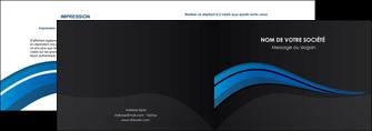 imprimerie depliant 2 volets  4 pages  web design bleu couleurs froides gris MIF79561