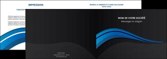 faire modele a imprimer depliant 2 volets  4 pages  web design bleu couleurs froides gris MIF79563