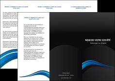cree depliant 3 volets  6 pages  web design bleu couleurs froides gris MIF79571