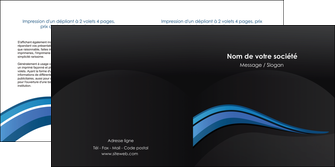 imprimer depliant 2 volets  4 pages  web design bleu couleurs froides gris MIF79575