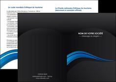 creer modele en ligne depliant 2 volets  4 pages  web design bleu couleurs froides gris MLGI79585