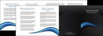 realiser depliant 4 volets  8 pages  web design bleu couleurs froides gris MIF79589