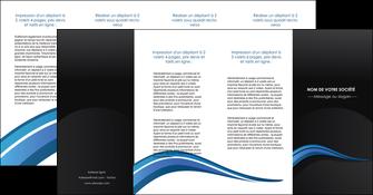 creer modele en ligne depliant 4 volets  8 pages  web design bleu couleurs froides gris MLGI79593